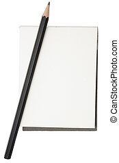 crayon, bloc-notes