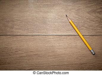 crayon bois, jaune