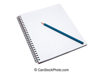crayon, cahier, vide