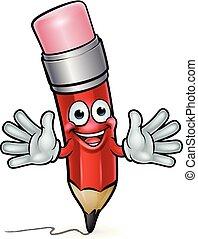 crayon, caractère, dessin animé