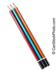 crayon couleur, fond blanc