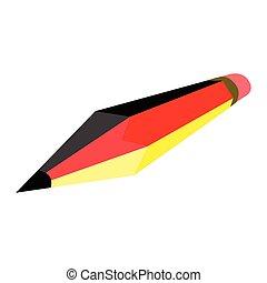 crayon, drapeau, allemagne