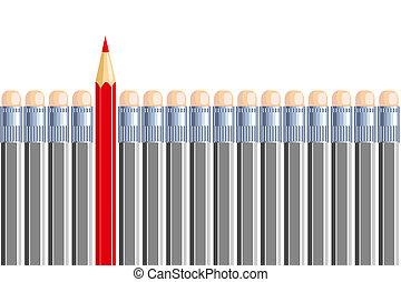 crayon, gray., different., être, quelques-uns, une, autre, autre