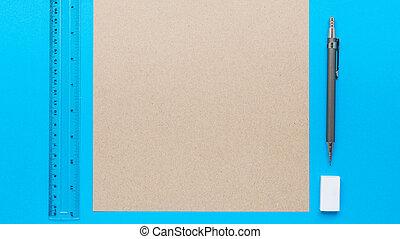 crayon, note, salle, lotissements, texte, image, ton, caoutchouc, bois, livre, bureau, blanc, ou, régulier