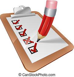 crayon, presse-papiers, enquête, dessin animé