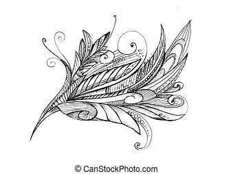 crayon, résumé, fleur, inhabituel, dessin