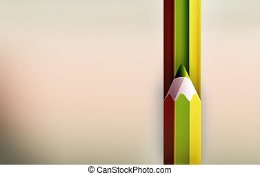 crayon, raies