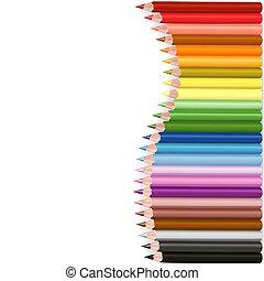 crayons, vague