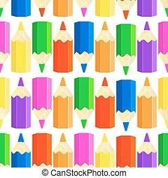 crayons, vecteur, seamless, coloré, modèle