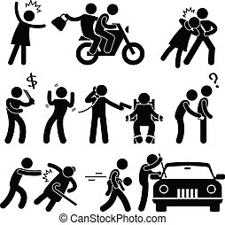 criminel, cambrioleur, voleur, ravisseur