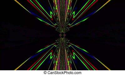 cristal, arrière-plan., réflexions, iridescent, hypnotiser, kaléidoscope