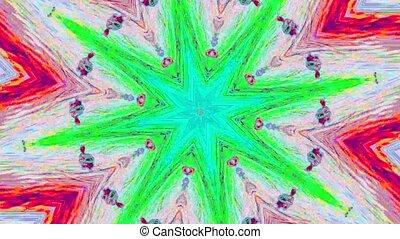 cristal, charmer, arrière-plan., réflexions, iridescent, kaléidoscope
