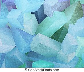 cristal, cubes