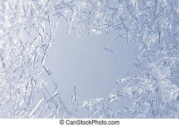 cristaux, closeup, glace