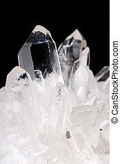 cristaux, quartz, noir