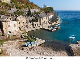 croatie, pêchant village