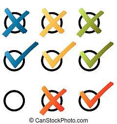 crochet, -, croix, coloré, choix