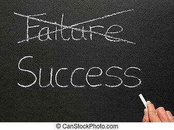 croisement, échec, dehors, success., écriture