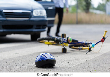 croisement, piéton, accident