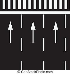 croisement, piéton, marquer, route