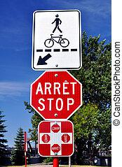 croisement, stops