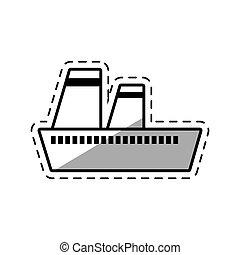 croisière bateau, ombre, maritime, voyage