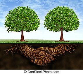 croissance, collaboration, business