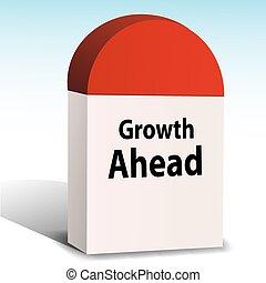 croissance, devant