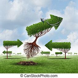 croissance, direction