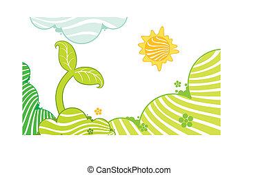 croissant, petit, plante