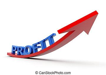 croissant, profit, graphique