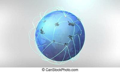 croissant, réseau global