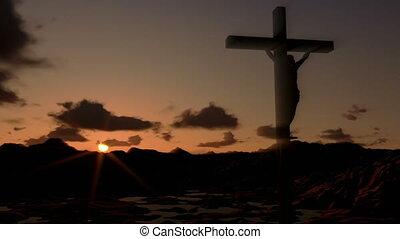 croix, timelapse couvre, jésus