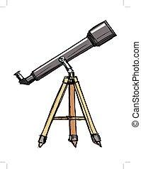 croquis, télescope
