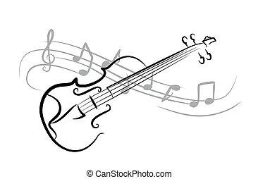croquis, violin.