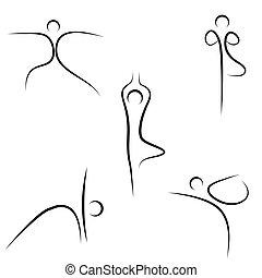 croquis, yoga