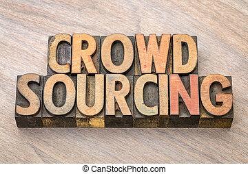 crowdsourcing, bois mot, type