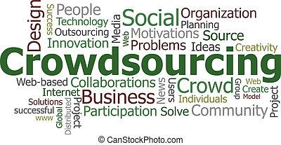 crowdsourcing, mot, nuage