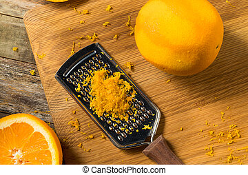 cru, zeste, orange, organique