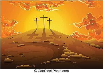 crucifixion, calvaire