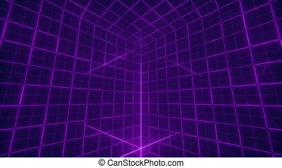 cube, arrière-plan grille