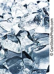 cube, glace, fond