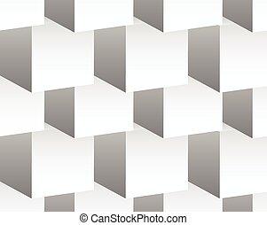cube, grayscale, shapes., pattern., repeatable, cubique, modèle fond, résumé, minimal, 3d