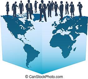 cube, professionnels, global, mondiale, ressources