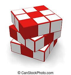 cube, puzzle