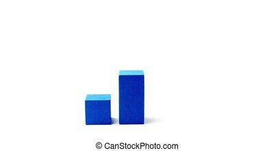 cube, sommet bois, diagramme, tourner, vert