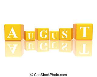 cubes, août, 3d
