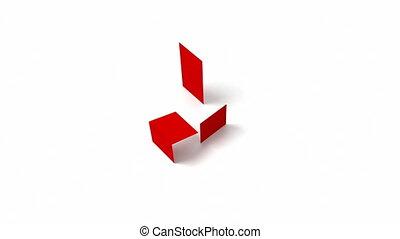 cubes, coloré, interroger