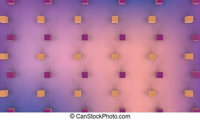 cubes, en mouvement, formation, 3d