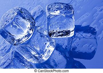 cubes, frais, glace, pur, concept!